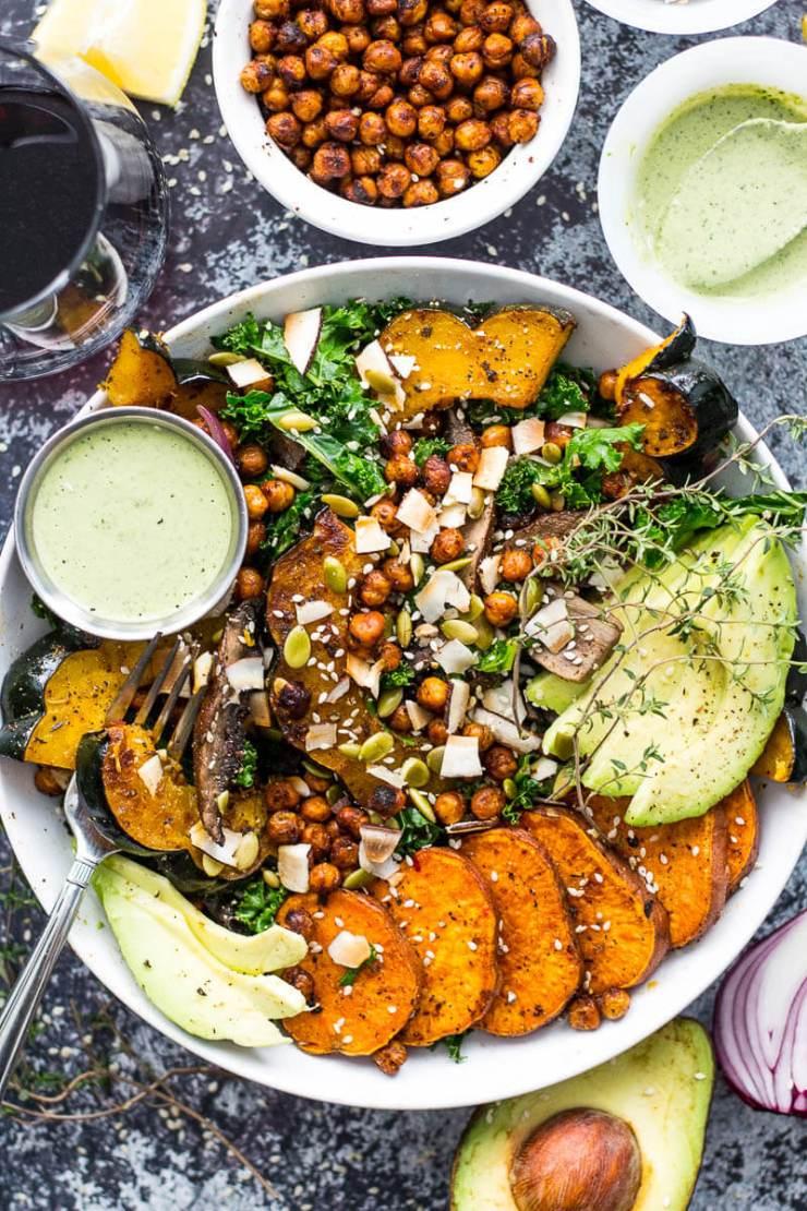 Sweet Potato Squash and Kale Buddha Bowl