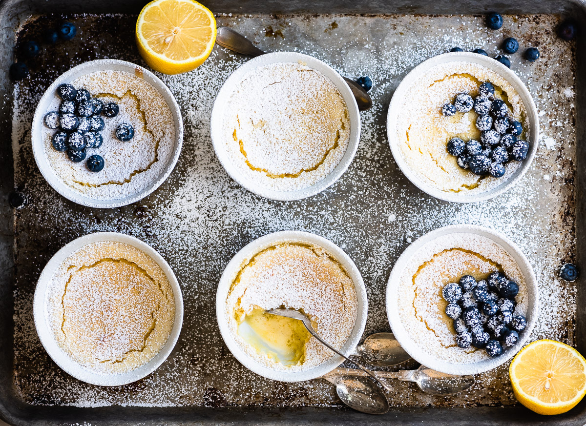 Flourless Warm Lemon Pudding Cake