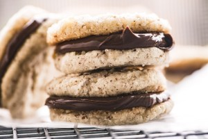 Nutella Sandwich Cookies, stacked