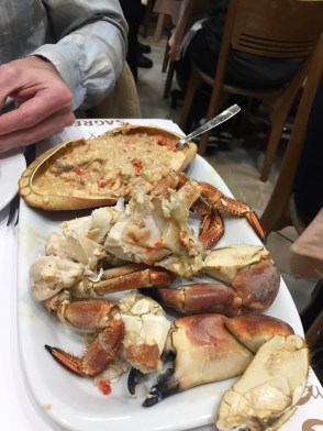 "They called this ""edible crab."" It was definitely crab, and the word ""edible"" was a major understatement! Between the claws and whatever that dip is in the shell (which we devoured with bread)... heaven."