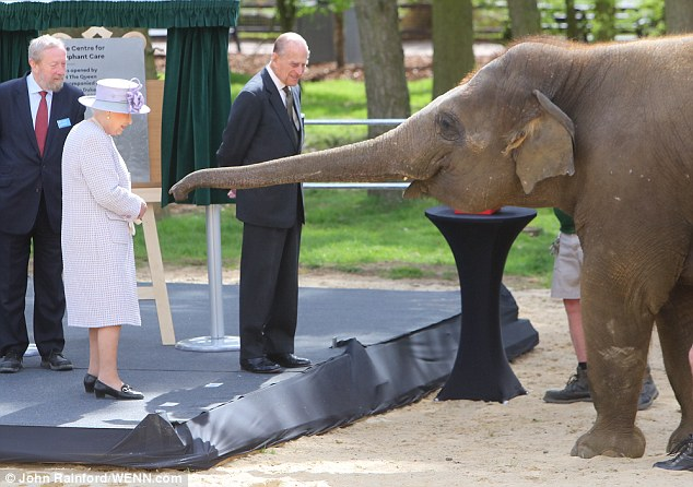 HM The Queen And HRH Prince Philip At Whipsnade