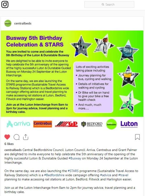 Luton Dunstable Busway Celebrates 5 Years with Free Event And Giveaway