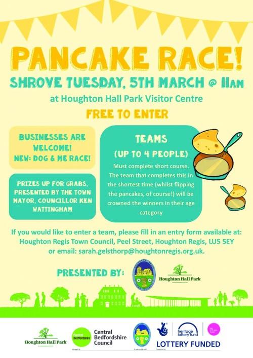 Houghton Regis Pancake Race At Houghton Hall Park