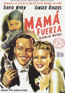 Spanish poster for Bachelor Mother that accurately captures the baby's sinister nature