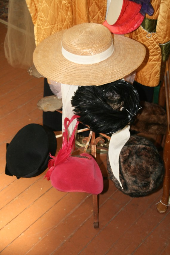 HATS on a stand.