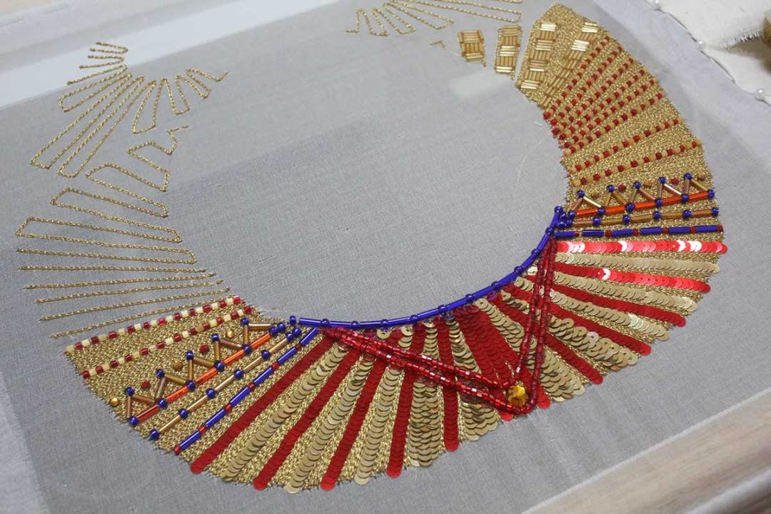 Antiquities Inspired Tambour Embroidery by Olivia Torma