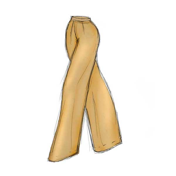 Art Deco Inspired Pants Designed by The Vintage Couturiere Olivia Torma