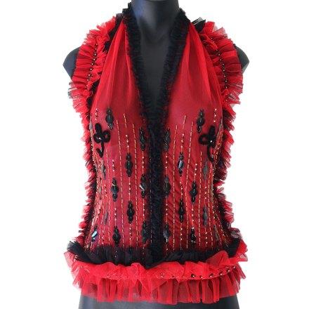 Haute Couture Embroidered Halter Neck