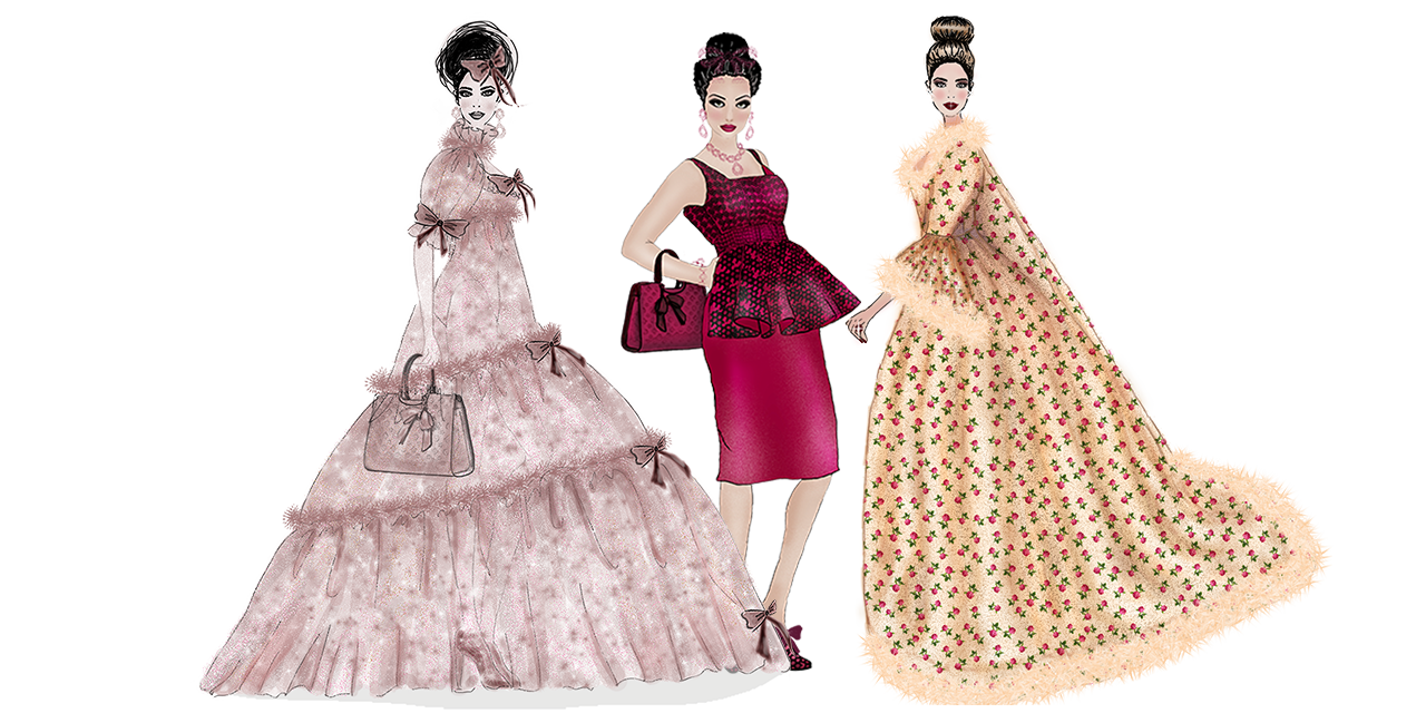 Couture Fashion Illustrations – The Portrait Collection