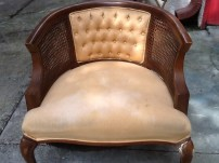 Vintage cane chair: The before