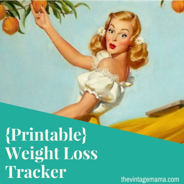 free weight loss tracker printable the vintage mama