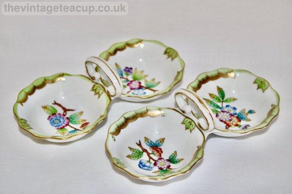 Herend Queen Victoria Pinch Pots