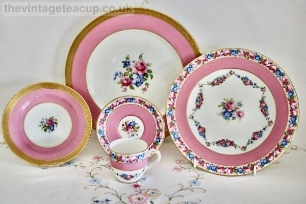 Pink Roses Place Setting