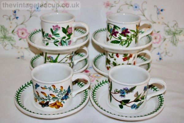 Portmeirion Cups and Saucer set