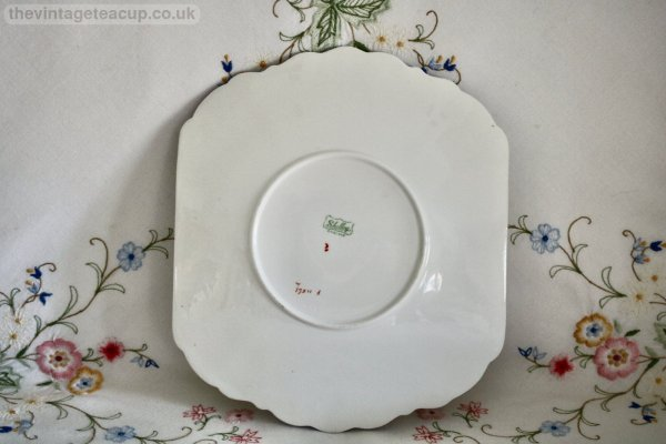 Shelley Blue Iris Cake Plate