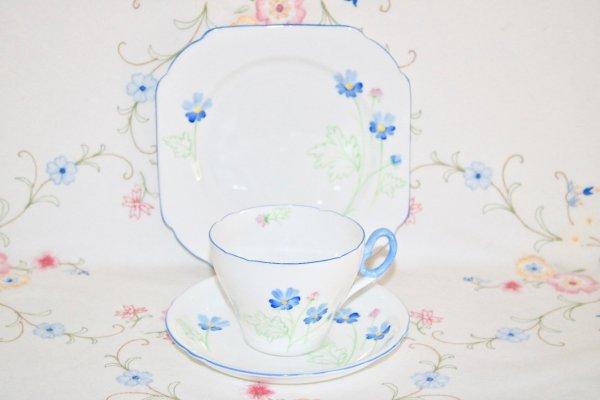 Shelley Corncockle bone china trio