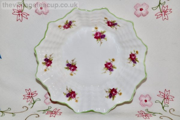 Shelley Posy Butter Dish