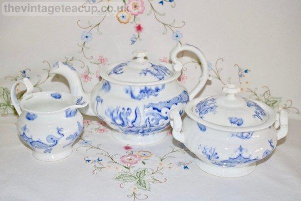 Blue Dragon Tea set