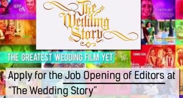 editing job vacancy at the wedding story