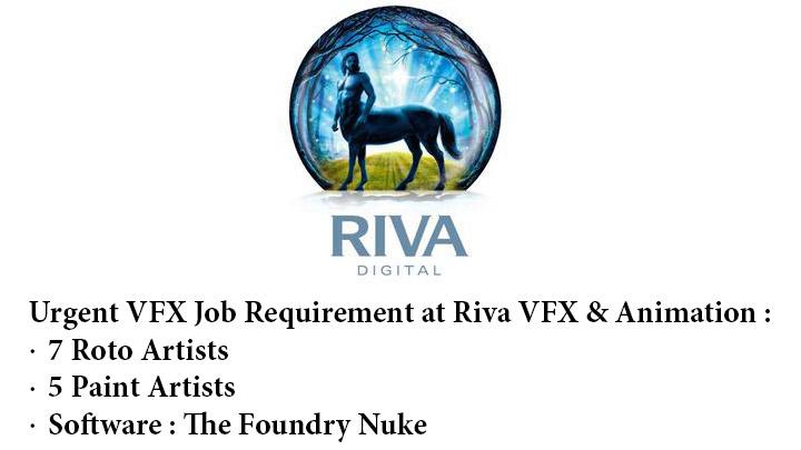 Job Opening Roto and Paint Riva Animation VFX