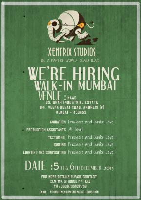 xentrix studios hiring