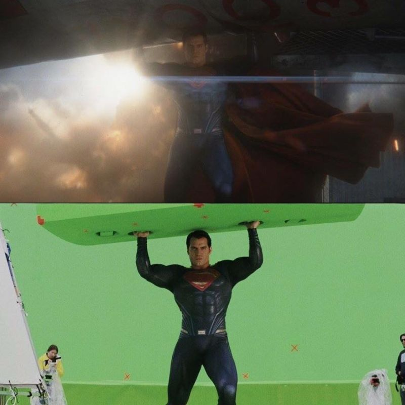green screen chroma before after