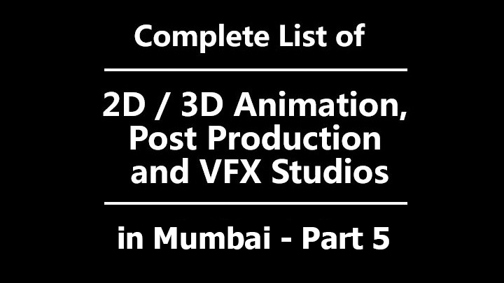 Mumbai Animation studio list