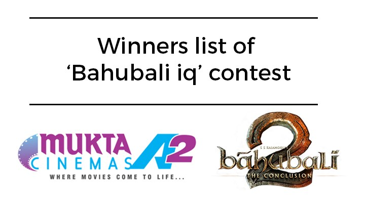 bahubali competition winners gift vouchers