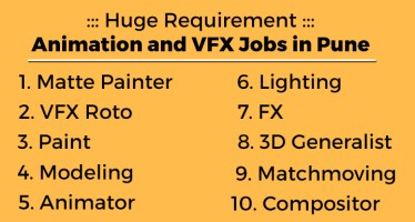 3D Animation and VFX Jobs in Pune