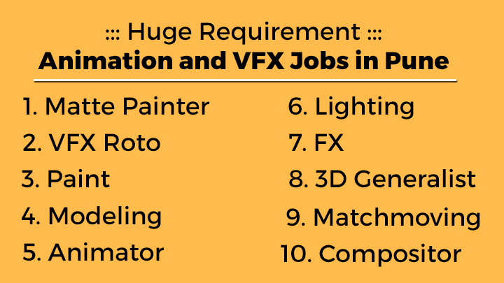 3D Animation and VFX Jobs in Pune: Apply for Huge Recruitment Drive
