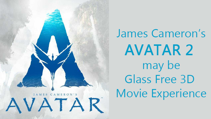 Avatar 2 in 3D without 3D glasses