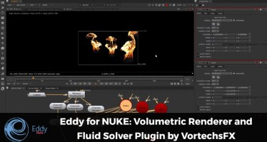 Eddy for NUKE fluid solver volumetric renderer vortechsFX