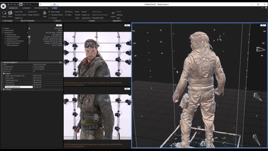 full body 3d human scanner realitycapture