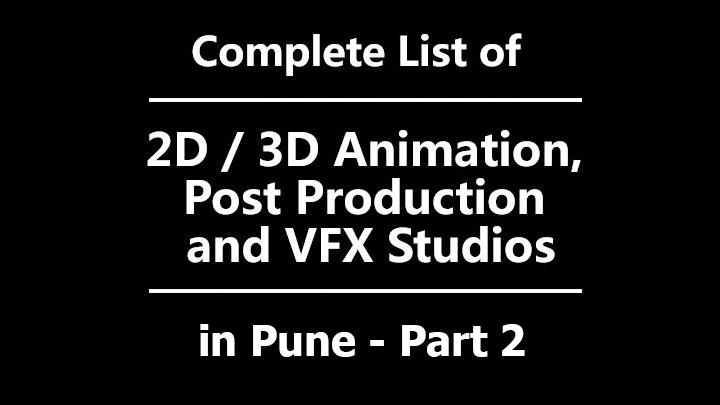animation vfx jobs in pune studio list