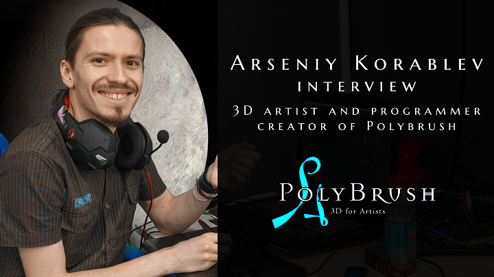 polybrush Arseniy Korablev 3D software