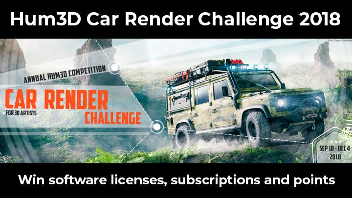 Hum3D Car Render Challenge 2018