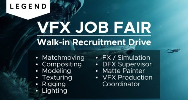 3D and VFX walk in interview legend jobs