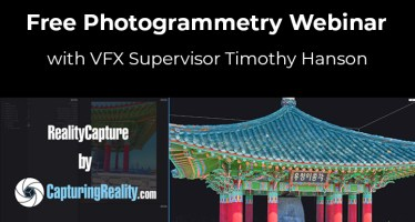 Photogrammetry Webinar VFX Supervisor Timothy Capturing Reality