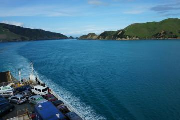 taking the ferry from the north island to the south island