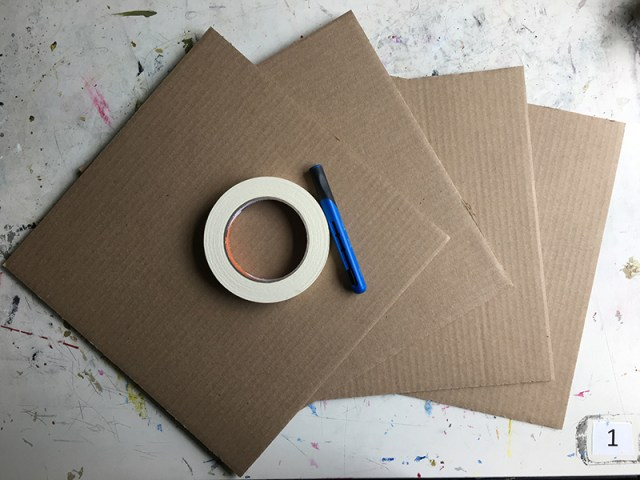 Cardboard pieces to create a box