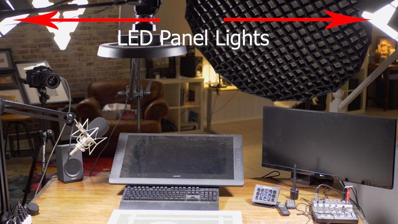 lighting your art studio