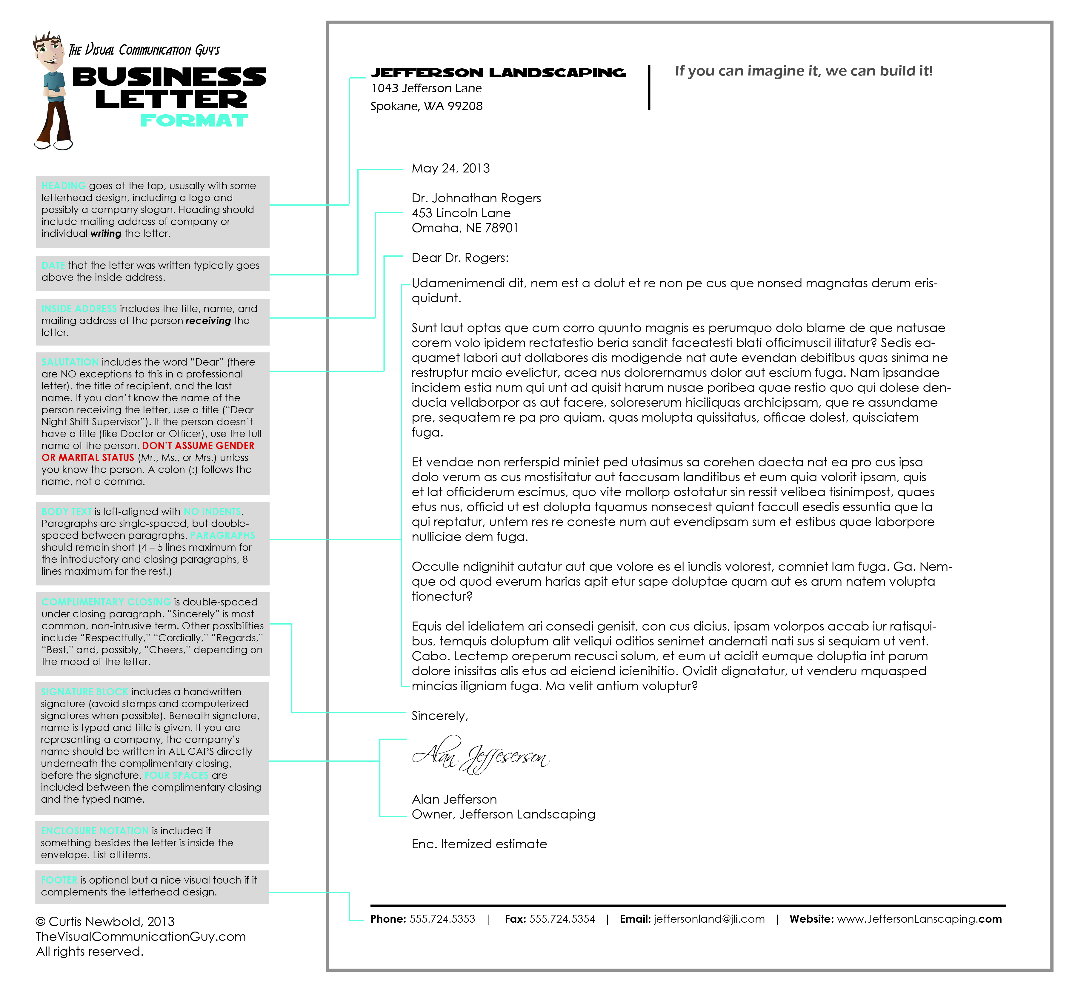 How to Write a Letter in Business Letter Format – The Visual ...