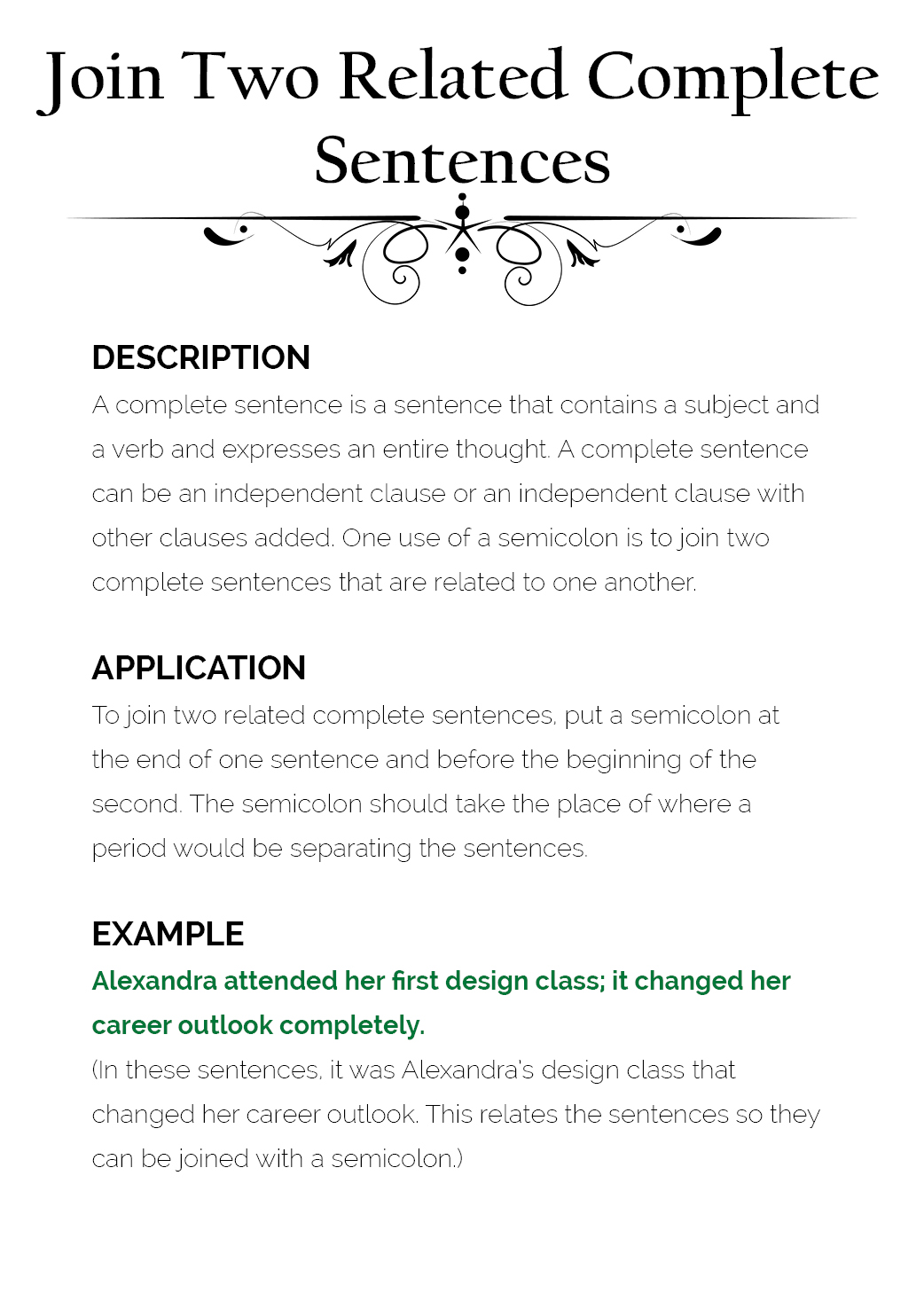 How To Use Semicolons The Visual Communication Guy Designing Information To Engage Educate