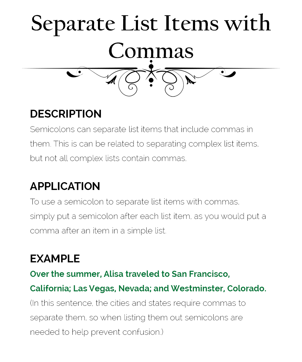 How To Use Semicolons The Visual Communication Guy