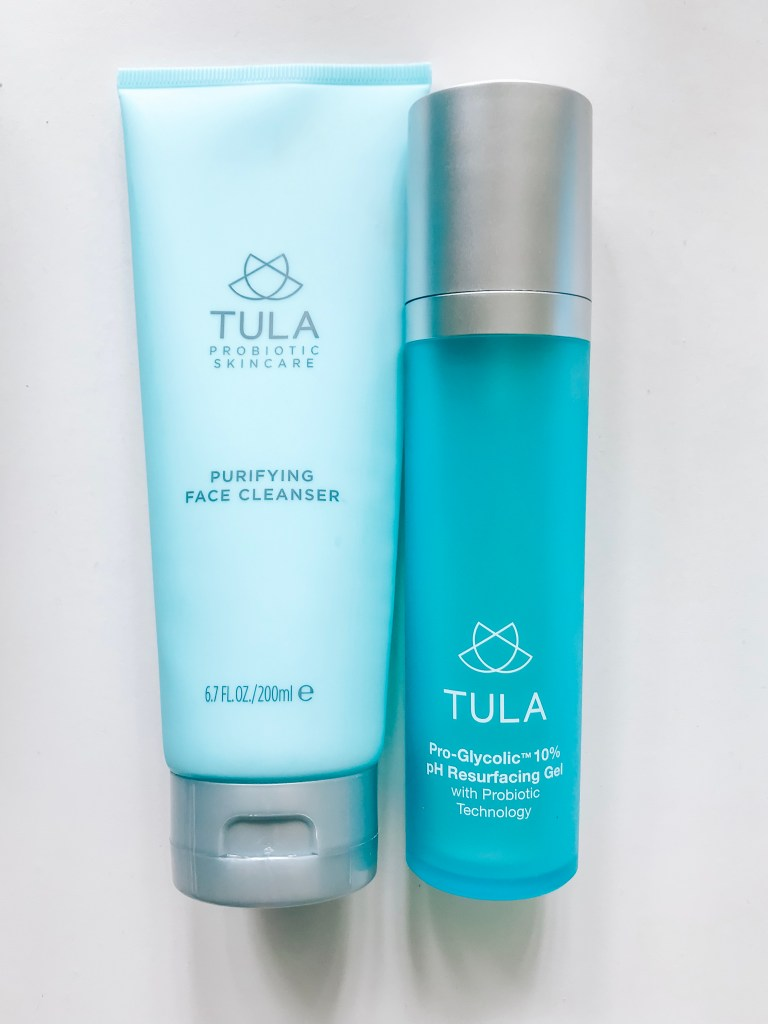 Tula Purifying Cleanser and 10% pH Resurfacing Gel