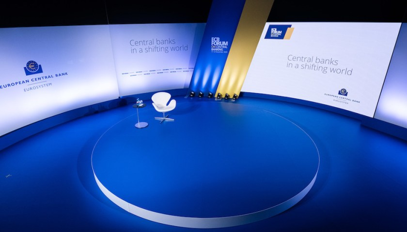 The stage for ECB Forum 2020