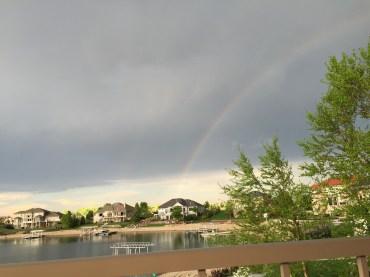 Rainbow over West Shores, Nebraska 5/3/15
