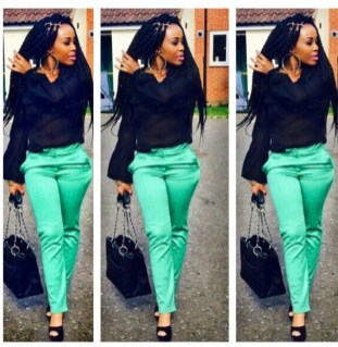 You will turn heads at the office with this look. Classy and sophisticated!
