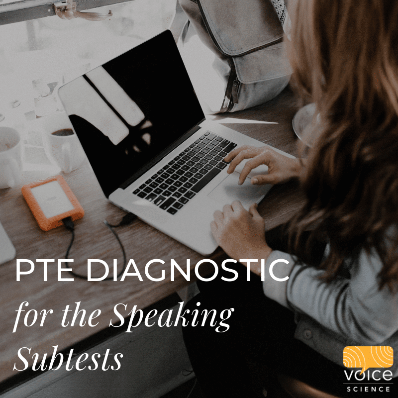 PTE Diagnostic for Speaking Subtests