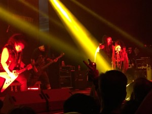 Sin Quirin, far left, performs with Ministry at the Bomb Factory in Dallas, TX.